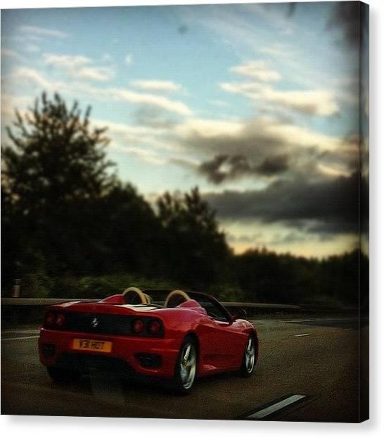 Ferrari Canvas Print - One Day . . . #supercar #ferrari #cars by Carl Edge