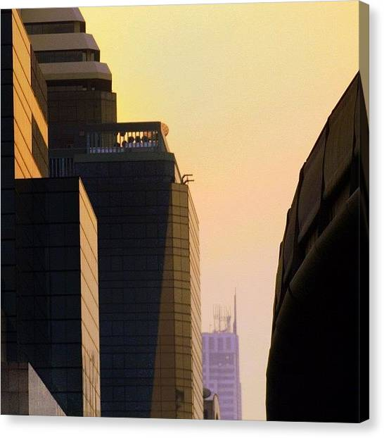 Skyline Canvas Print - One Day In Bangkok And World's Your by A Rey