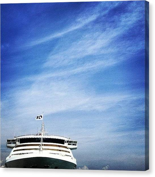 Machinery Canvas Print - #one #lonely #ship . #cruise #vessel by Gabriel Kang