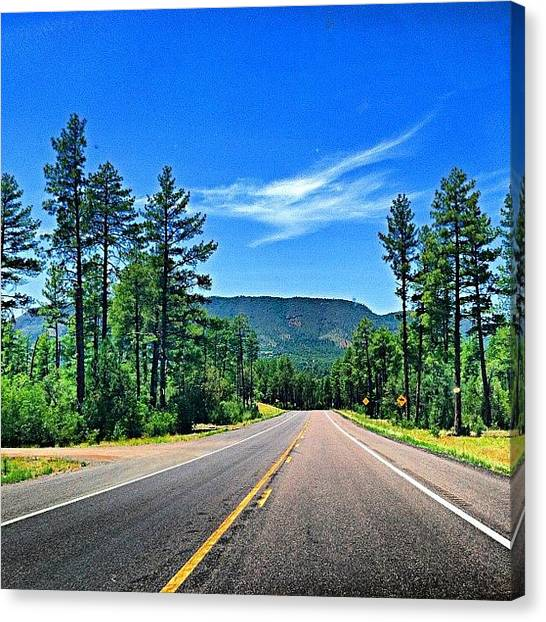Driving Canvas Print - One More From The Day-trip Near Payson by John Schultz