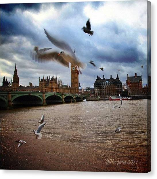 Parliament Canvas Print - One More From Today. Thanks To All For by Phil Martin