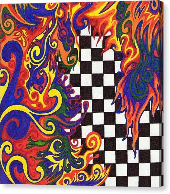 Colorful Canvas Print - One Of A Kind Sharpie Art From by Mandy Shupp