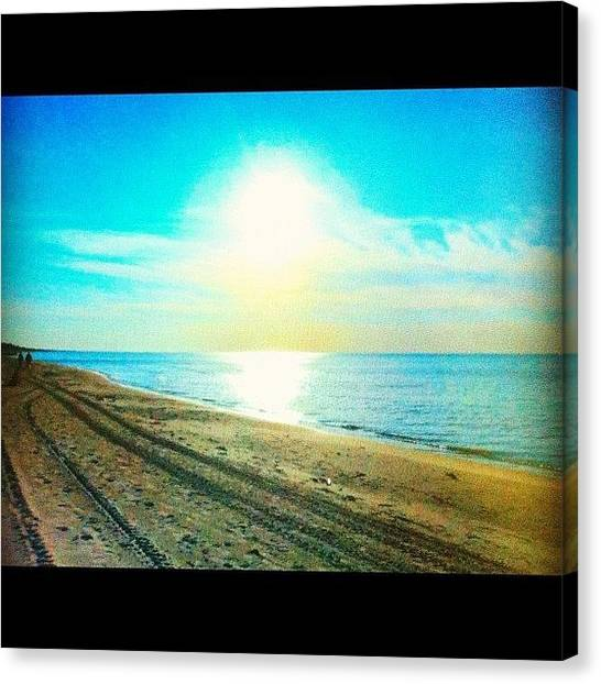 Ocean Sunrises Canvas Print - One Of My Favourite Pictures From A by Joanna Dowdell