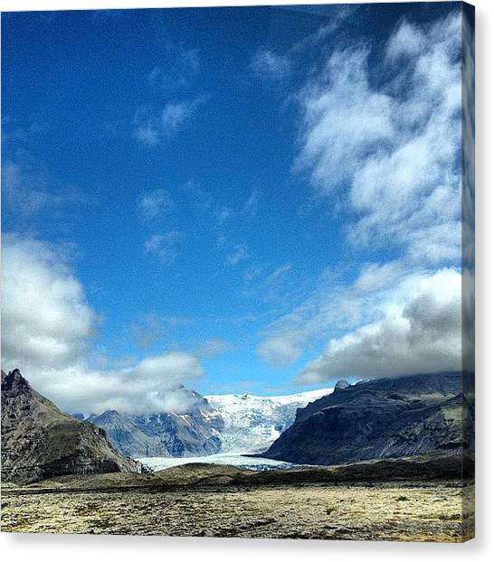 Glaciers Canvas Print - One Of My Favourite Spot In This Crazy by Lilja Arnthorsdottir