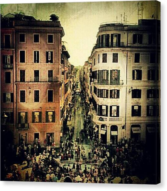 Rome Canvas Print - One Of My Favs. #spanishsteps by Kevin Hu