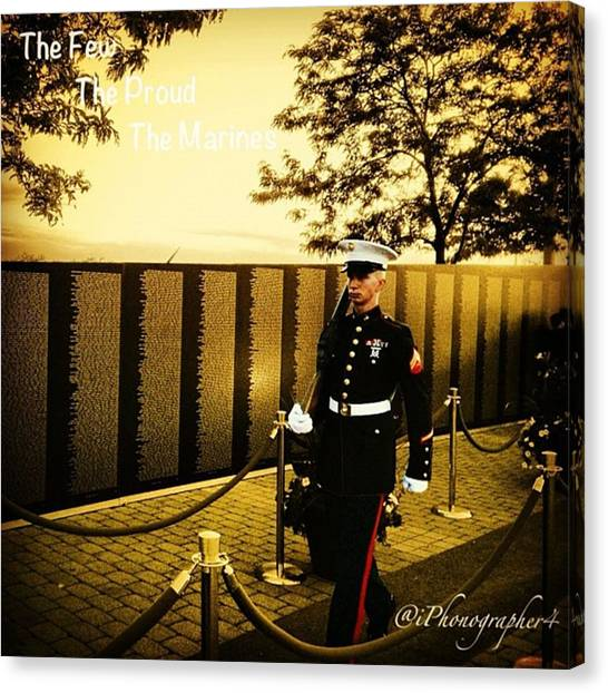 Marines Canvas Print - One Of The Best Sites In The by Pete Michaud