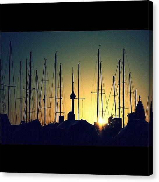 Toronto Skyline Canvas Print - One Of These Things Is Not Like The by Jen Caruso