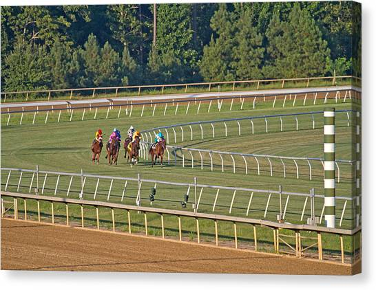 Finish Line Canvas Print - One Place To Be by Betsy Knapp