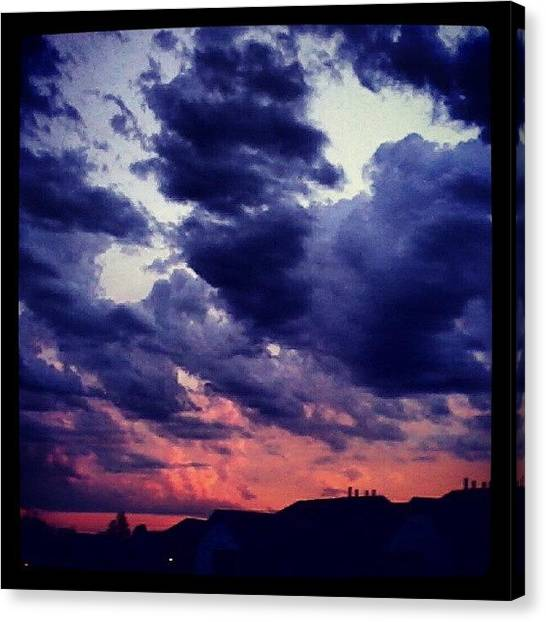 Rainclouds Canvas Print - One Side Of The Sky by Kyle Walker