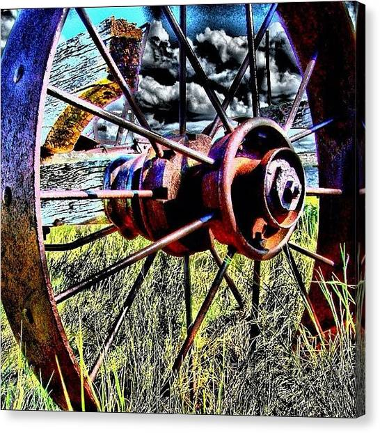 Equipment Canvas Print - One Spoke Two Spoke by Michelle Knox