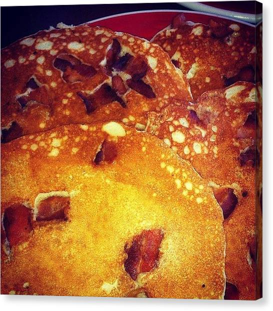 Bacon Canvas Print - One Time I Had #baconpancakes For by T C