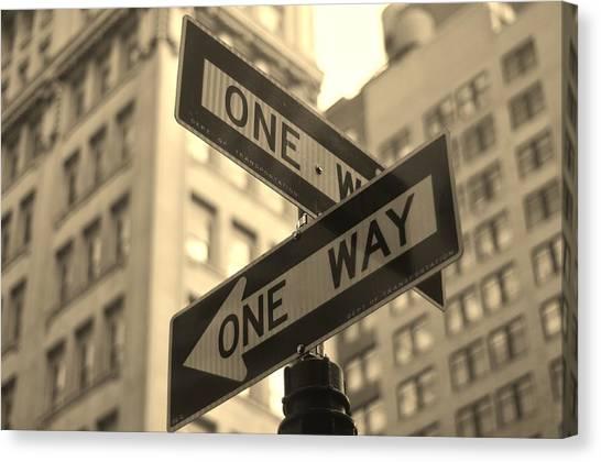 One Direction Canvas Print - One Way, Manhattan by Photo by Yohsuke Ikebuchi