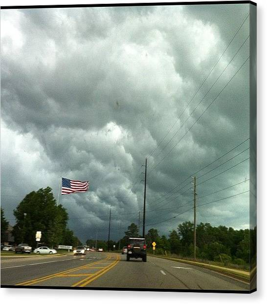 Tornadoes Canvas Print - One Year Later...eerie. #tuscaloosa by Stacey Hamner
