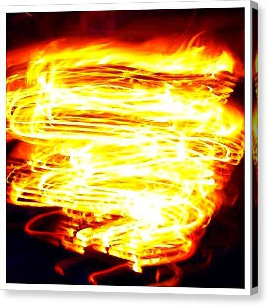 Flames Canvas Print - #ontario #camping #camp #fire #camera by Christinaashley Huynh