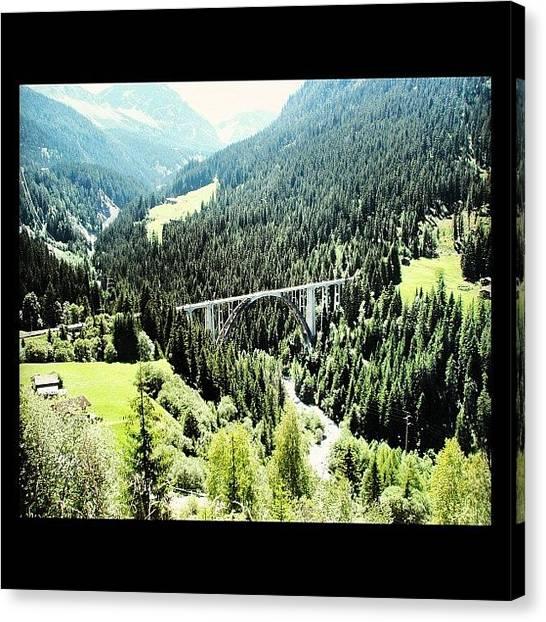 Swiss Canvas Print - #ontheway #to #arosa #swiss #alps by Yiddy W