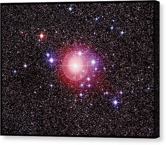Open Star Cluster Ngc 2451 Canvas Print by Celestial Image Co.