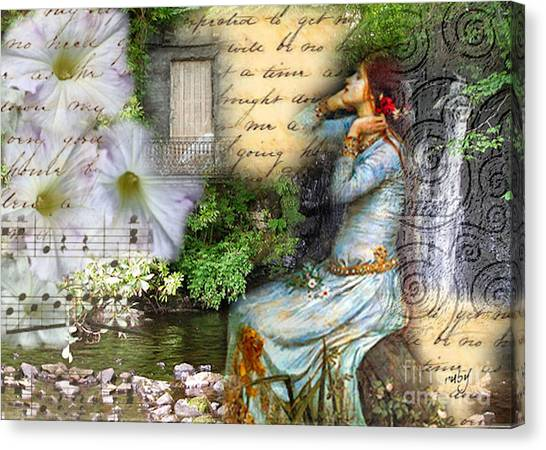 Ophelia In Nature Canvas Print