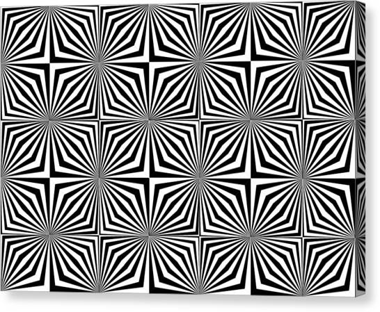 Optical Illusion Spots Or Stares Canvas Print