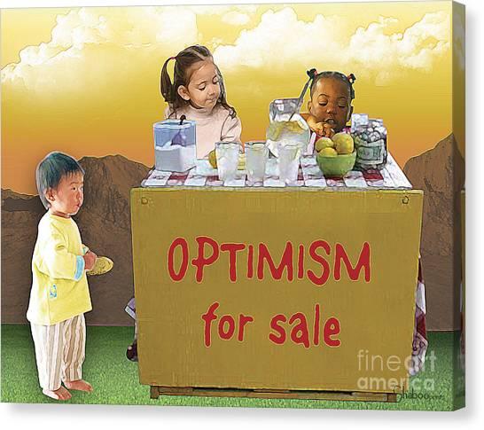 Optimism For Sale Canvas Print