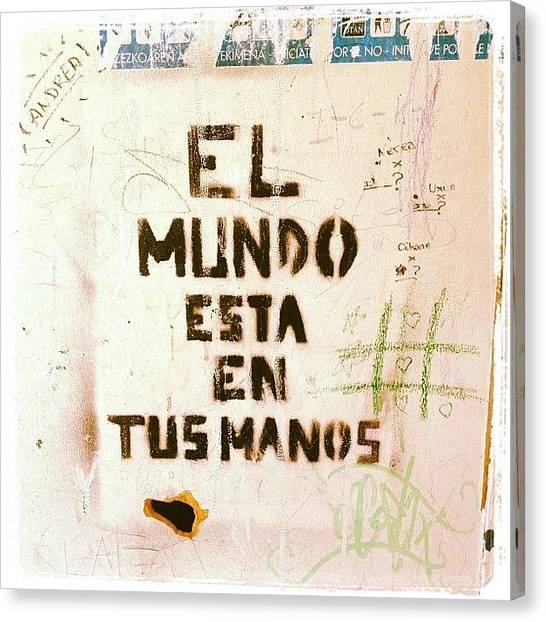 Graffiti Walls Canvas Print - Optimismo by David Fdez Rementeria