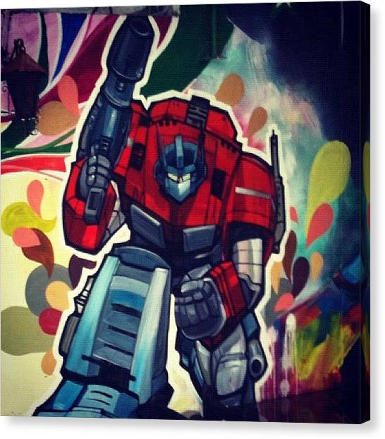 Peruvian Canvas Print - Optimus by Cesar Loyola