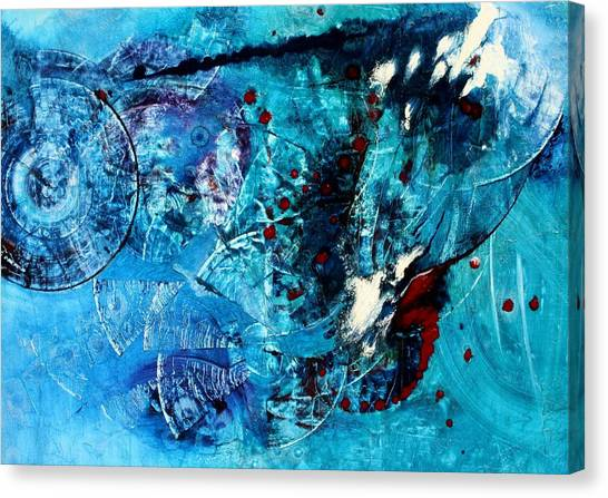 White Tip Sharks Canvas Print - Opus - Nine by Mudrow S
