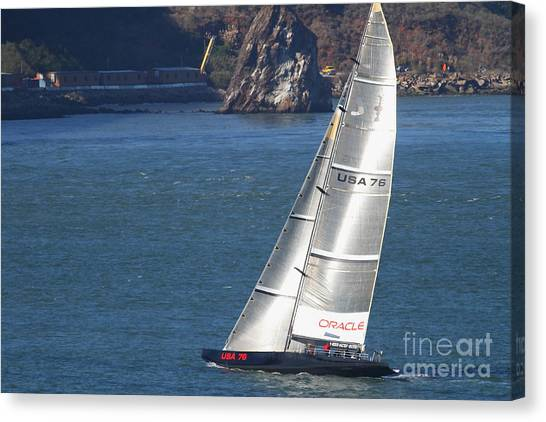 Oracle Racing Team Usa 76 International America's Cup Sailboat . 7d8069 Canvas Print by Wingsdomain Art and Photography