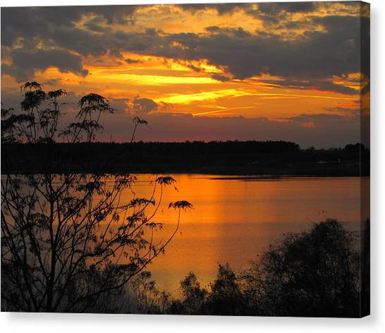 Orange Blue Sunset Canvas Print