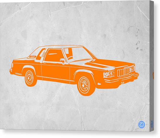 Muscles Canvas Print - Orange Car by Naxart Studio