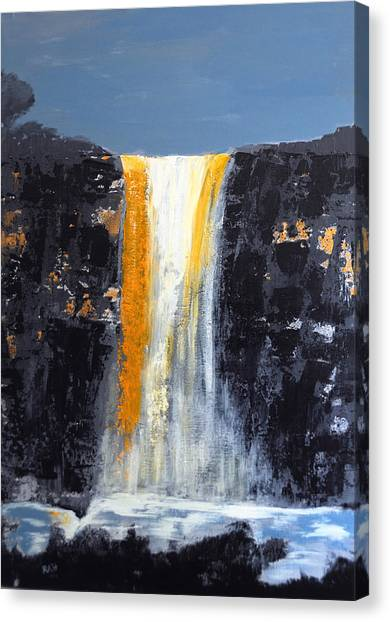 Orange Cascade Canvas Print by Rob Heath
