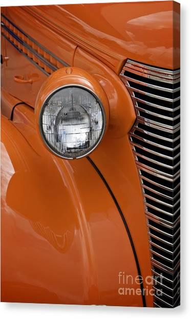 Orange Chevrolet Canvas Print