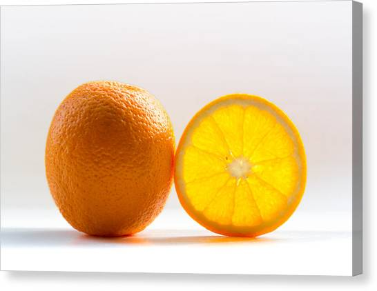 Orange Canvas Print - Orange Fruit Composition by by Felix Schmidt