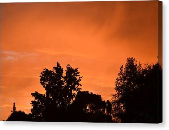 Orange Sky Canvas Print by Naomi Berhane