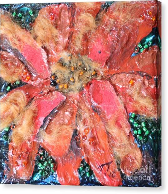 Orange Texture Flower by Terri Thompson