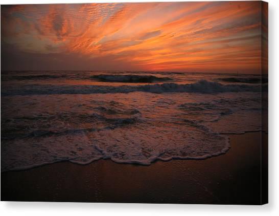 Orange To The End Canvas Print