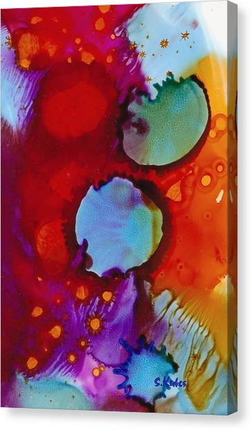 Orbs Of Color Canvas Print by Susan Kubes