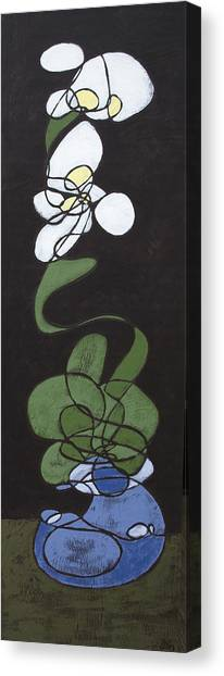 Canvas Print featuring the painting Orchid Floral 2 by John Gibbs