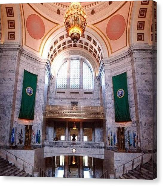 Art Deco Canvas Print - Oregon State Capitol by Michael Lynch