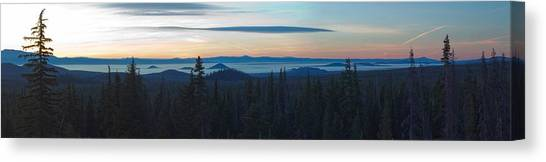 Bachelor Canvas Print - Oregon Sunrise Near Mount Bachelor by Twenty Two North Photography