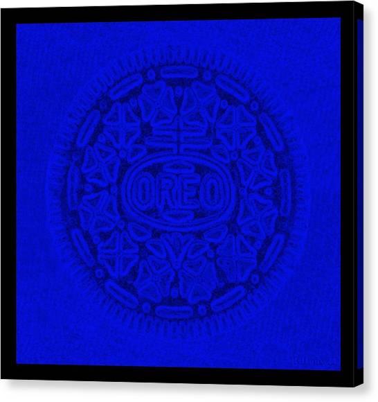 Nabisco Canvas Print - Oreo In Blue by Rob Hans