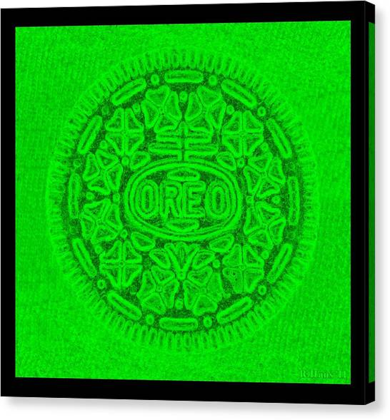 Nabisco Canvas Print - Oreo In Green by Rob Hans