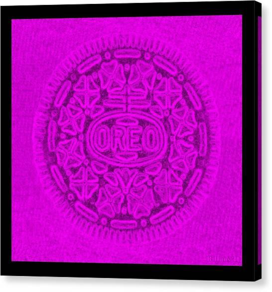 Nabisco Canvas Print - Oreo In Purple by Rob Hans