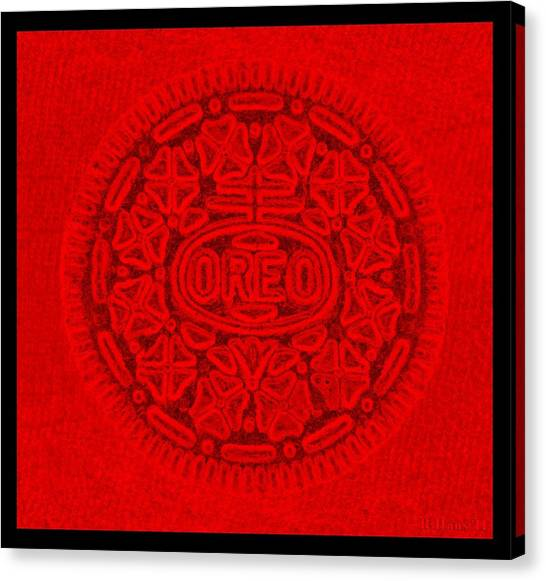 Nabisco Canvas Print - Oreo In Red by Rob Hans