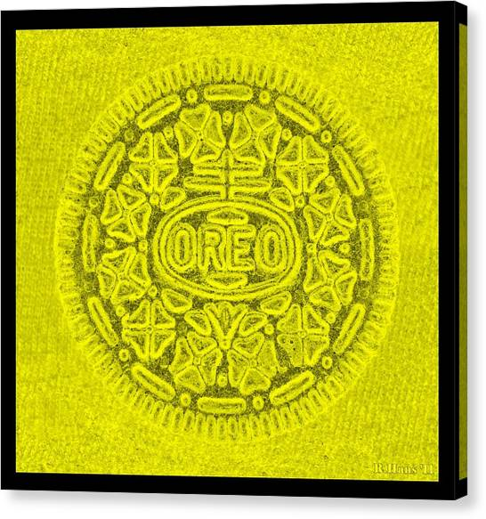 Nabisco Canvas Print - Oreo In Yellow by Rob Hans