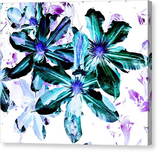 Organic Techno Flowers Canvas Print