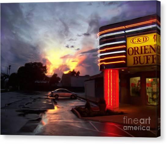 Chinese Restaurant Canvas Print - Oriental Buffet by Jeff Breiman
