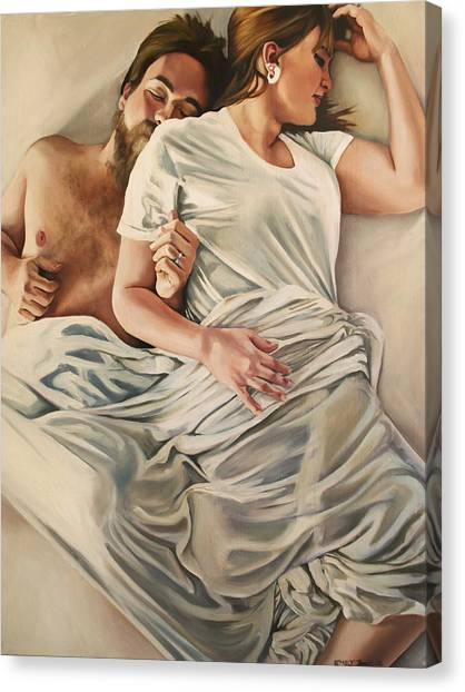 Origin Of Love #4 Canvas Print by Emily Jones