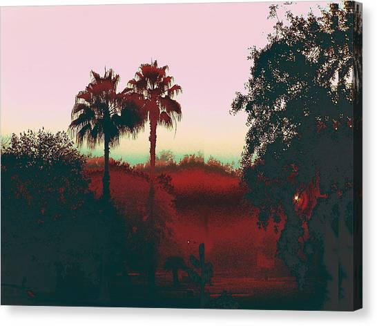 Original Fine Art Digital Gulf Coast Misty Morning Canvas Print