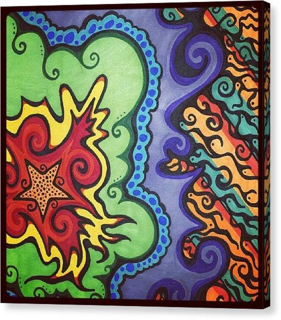 Stars Canvas Print - Original #sharpie Art ! From by Mandy Shupp