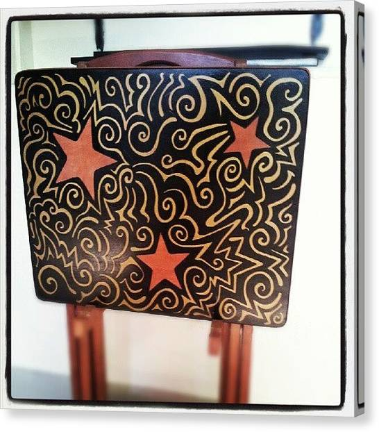 Stars Canvas Print - Original #sharpie Art By Imagination by Mandy Shupp